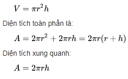 cong thuc tinh the tich hinh lang tru