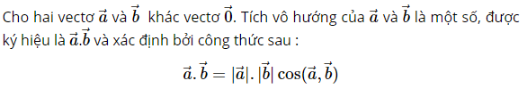 dinh nghia tich vo huong
