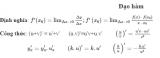 [ Các công thức đạo hàm ] Log, cao cấp, hàm hợp, căn bậc 3 , cấp n