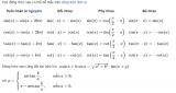 Công thức lượng giác lớp 9, lớp 10, lớp 11 Cơ Bản – Nâng Cao ( ĐẦY ĐỦ )